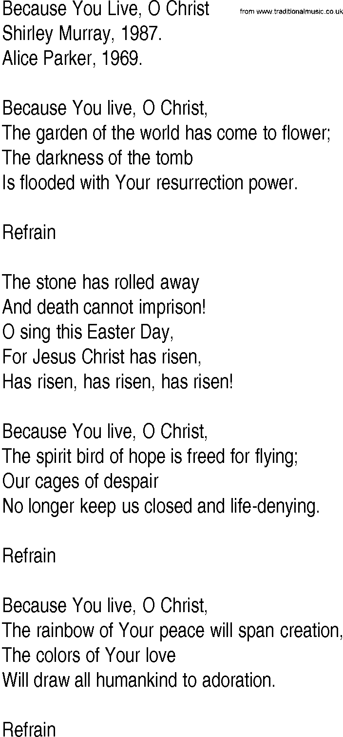 Sinach - Because you Live (With Lyrics) - YouTube