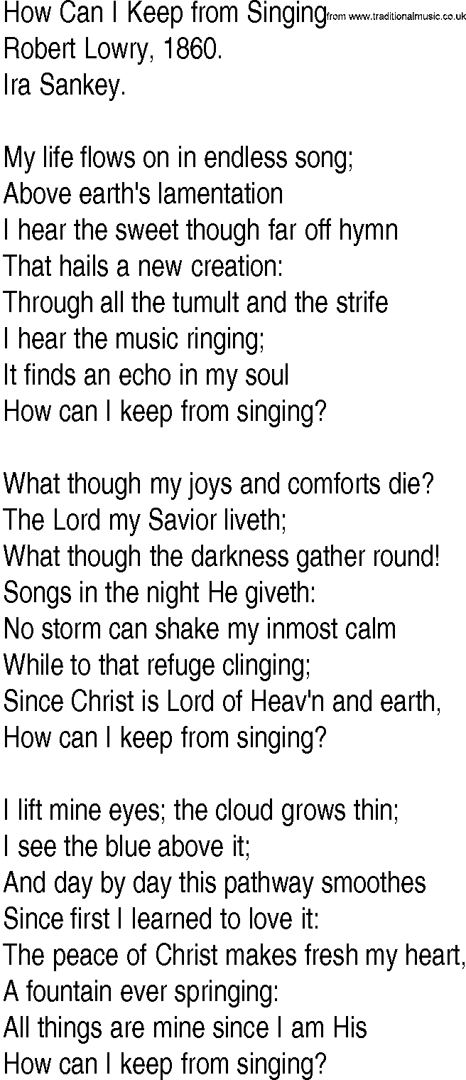 How Can I Keep from Singing? - Wikipedia