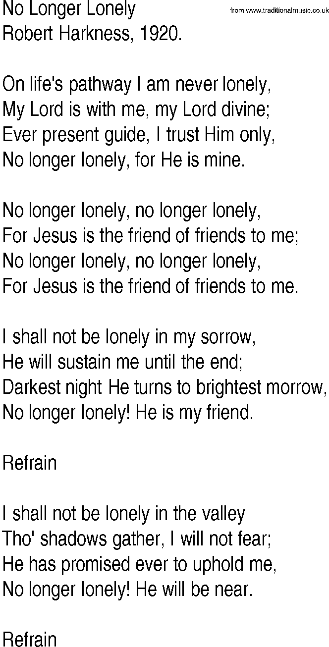 No longer lonely