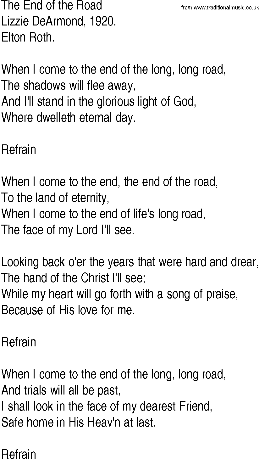 two for the road song lyrics