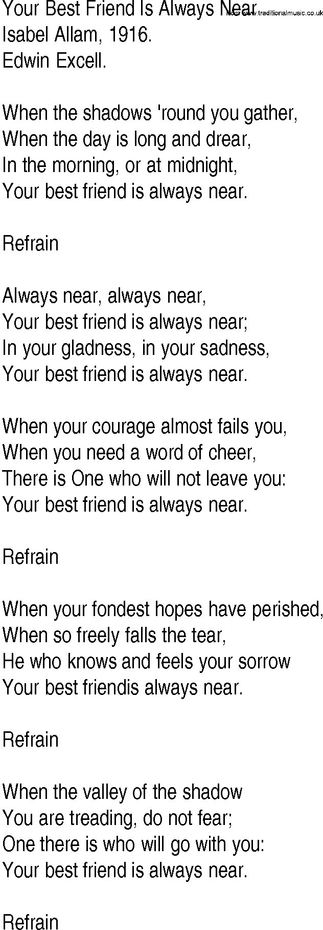 Songs about your best friend