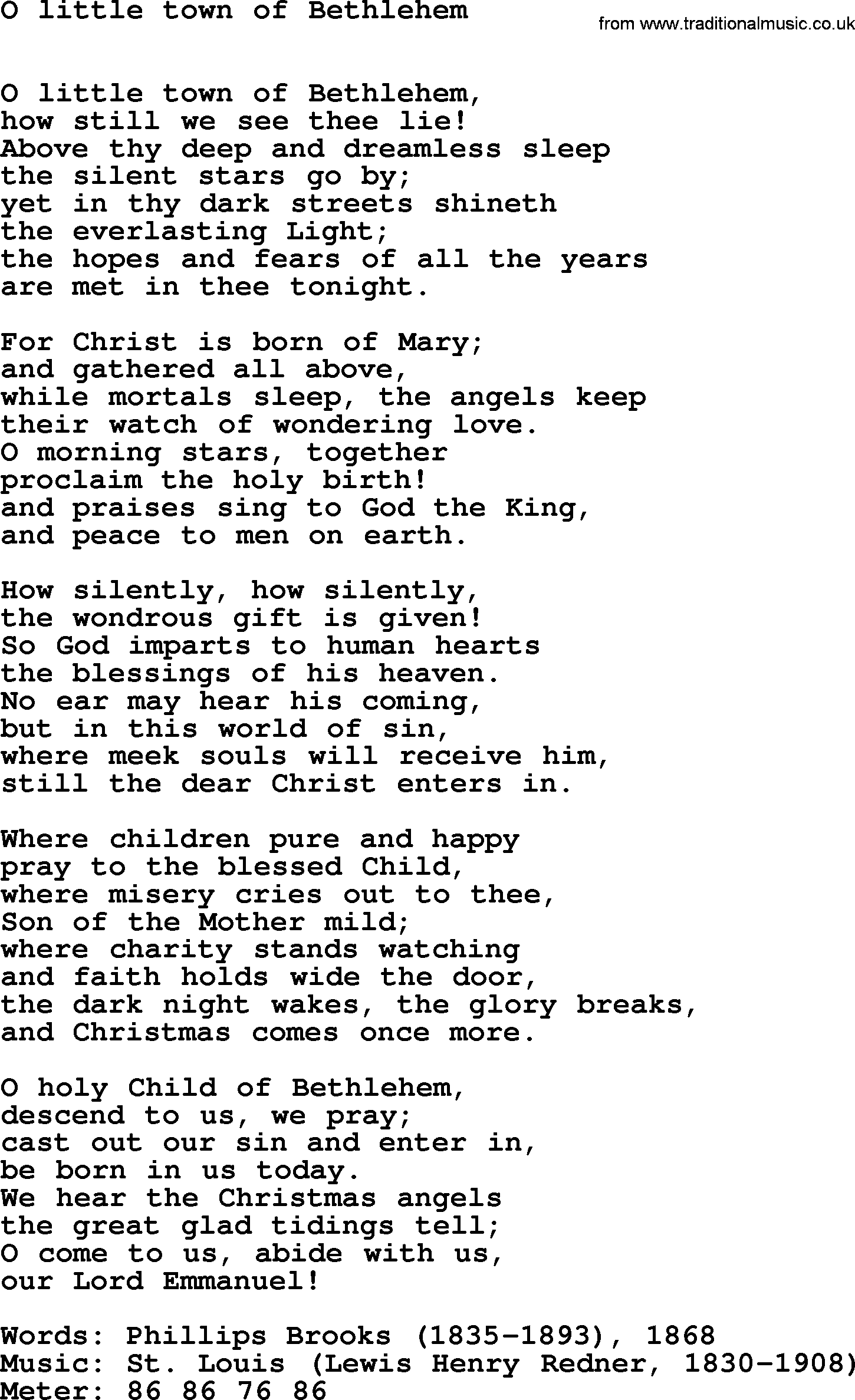 When Christmas Comes To Town Lyrics.Hymns Ancient And Modern Song O Little Town Of Bethlehem