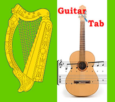Traditional Irish Music 2900+ tunes - Sheet-music with GUITAR tabs ...