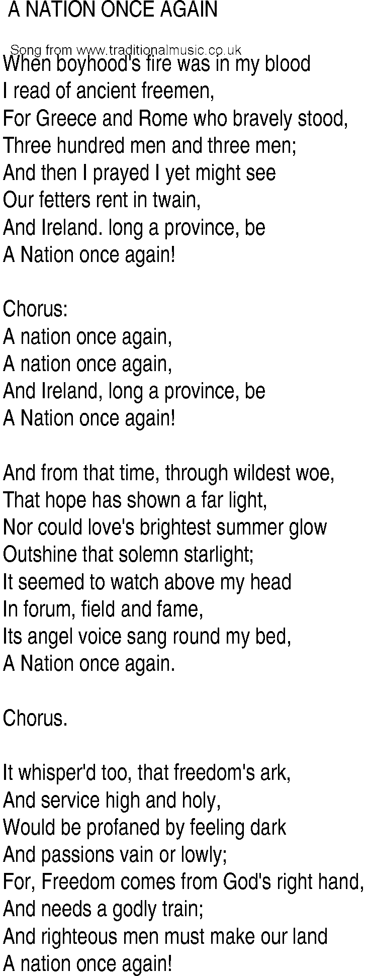 A Nation Once Again - The Dubliners - With Lyrics - YouTube