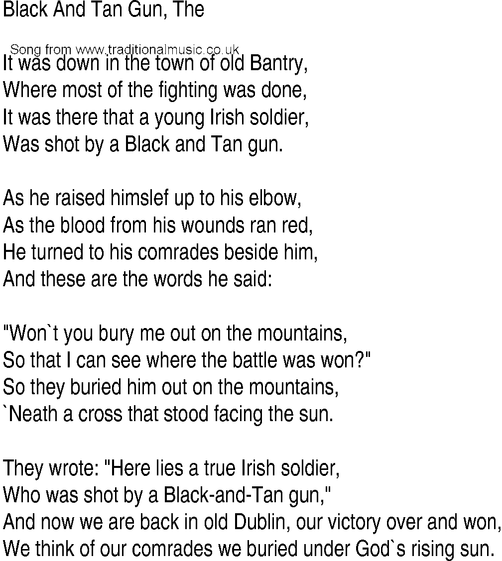 BLACK TIDE - BURY ME LYRICS