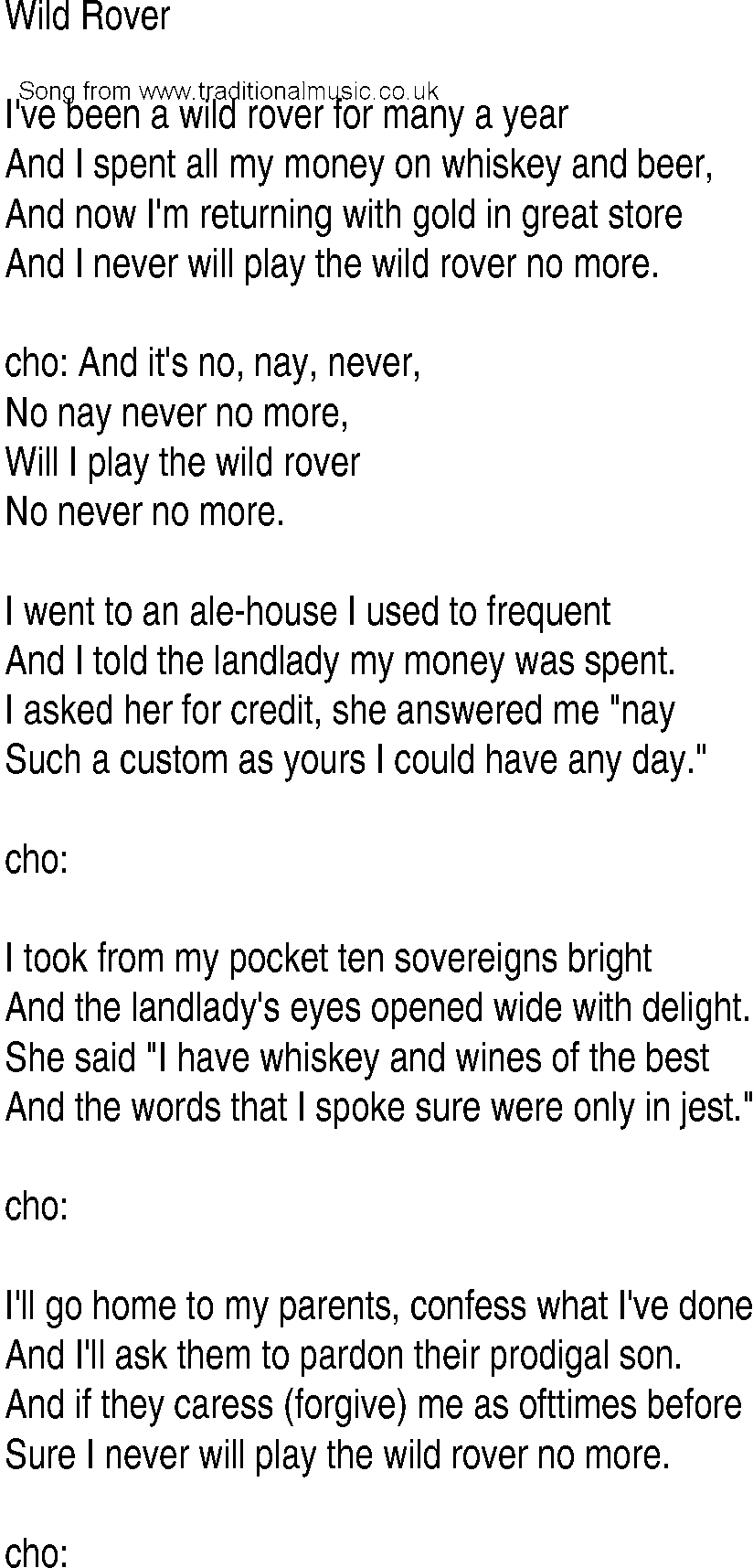In to the wild lyrics
