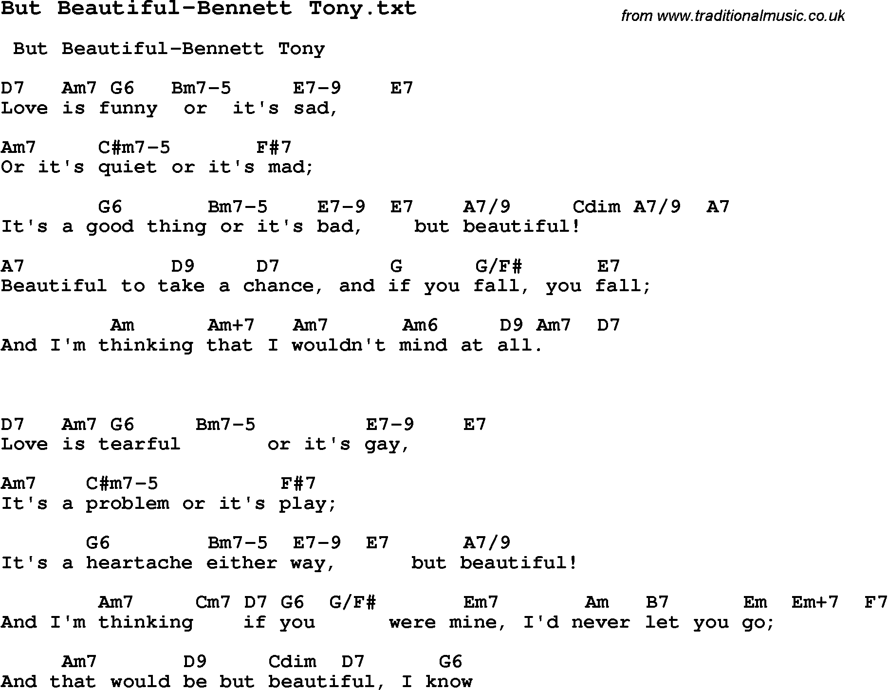 Jazz song but beautiful bennett tony with chords tabs and jazz song from top bands and vocal artists with chords tabs and lyrics but hexwebz Gallery