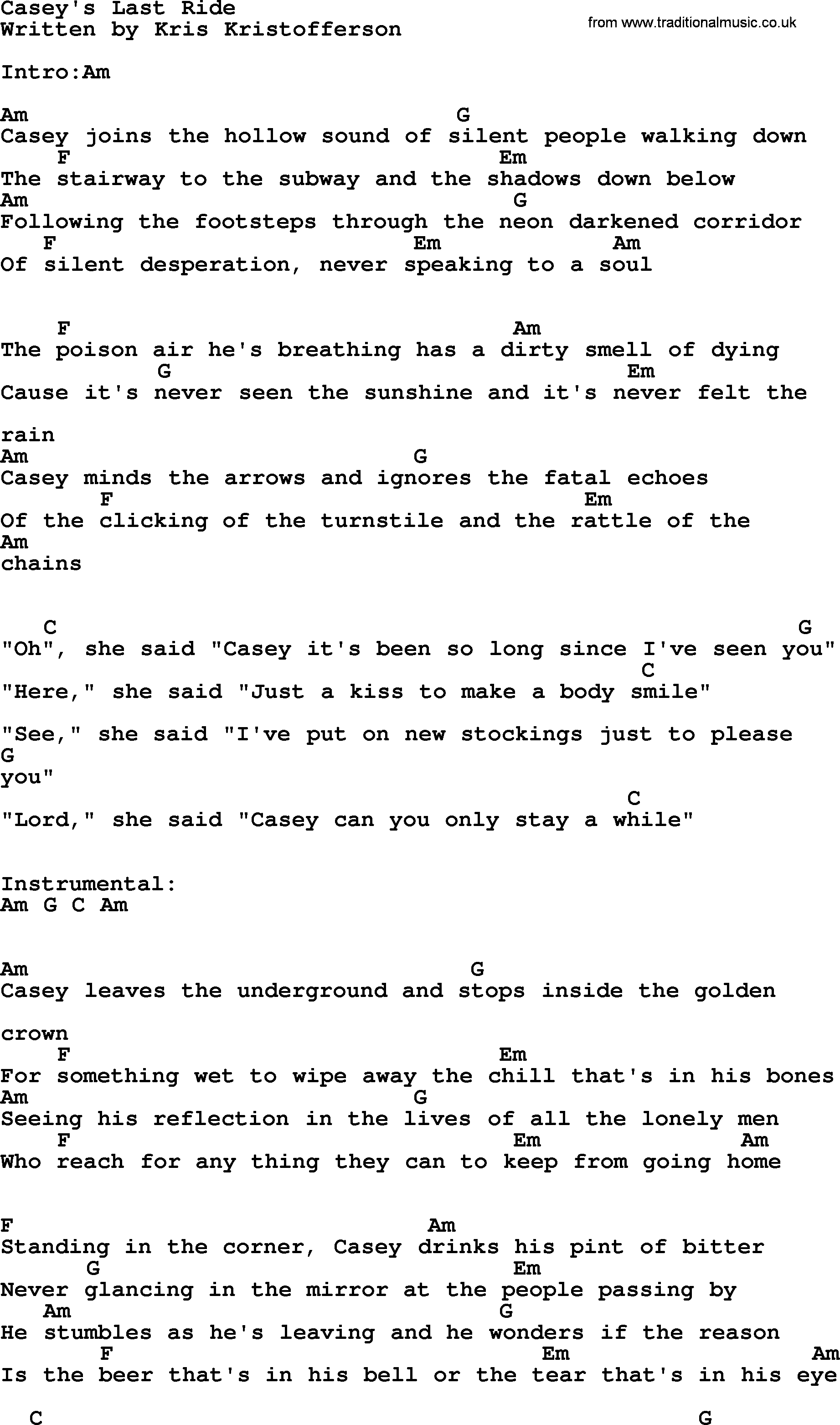 Johnny cash song caseys last ride lyrics and chords johnny cash song caseys last ride lyrics and chords hexwebz Images