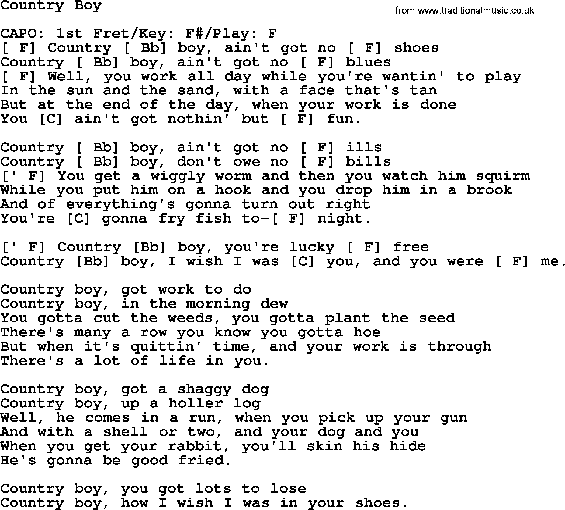 Johnny cash song country boy lyrics and chords johnny cash song country boy lyrics and chords hexwebz Images