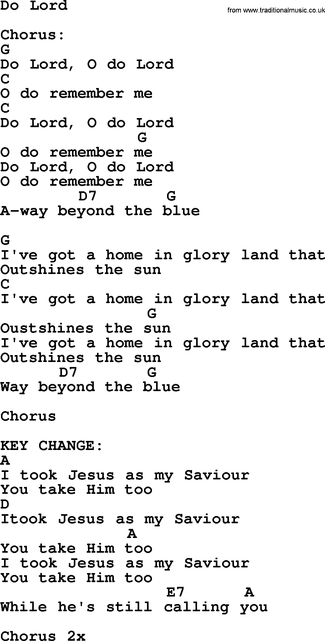 Johnny Cash Song Do Lord Lyrics And Chords