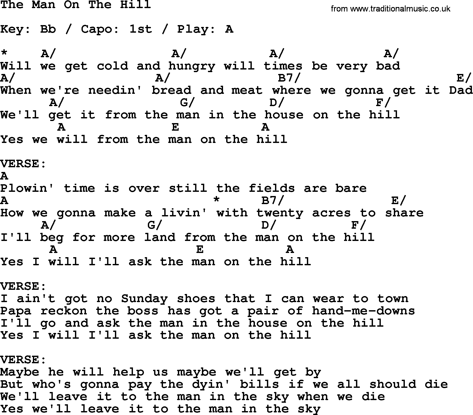 Johnny cash song the man on the hill lyrics and chords johnny cash song the man on the hill lyrics and chords hexwebz Images