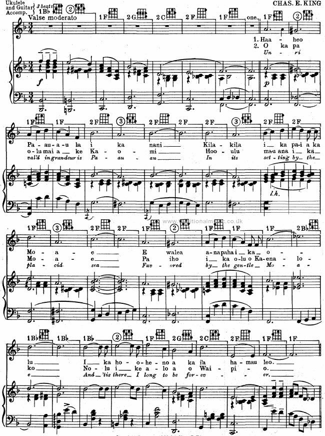 Best Hawaiian Melodies Lyrics Chords Scores Page 112