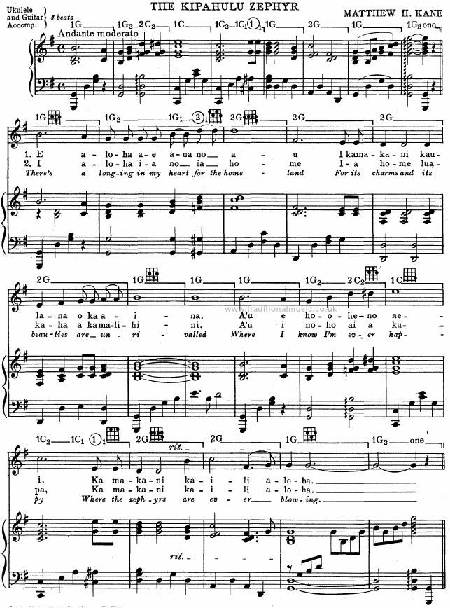 Best Hawaiian Melodies Lyrics Chords Scores Page 128