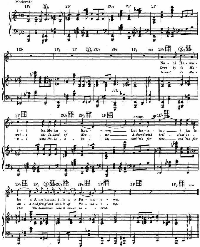 Best Hawaiian Melodies Lyrics Chords Scores Page 214