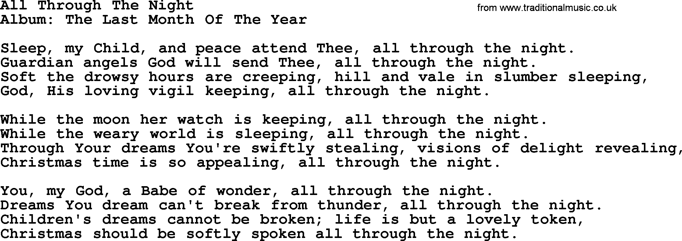 All Through The Year