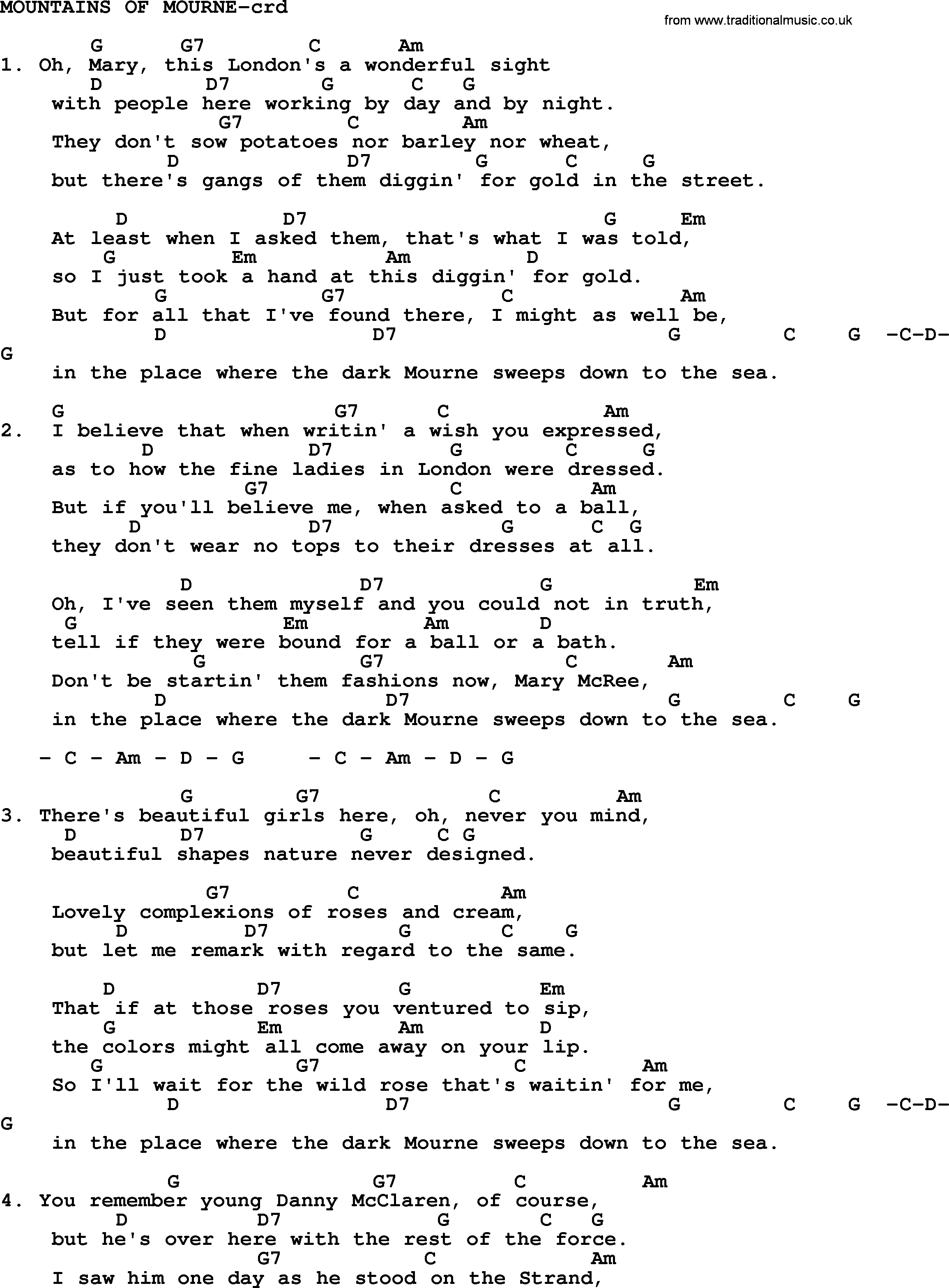 Kingston trio song mountains of mourne lyrics and chords kingston trio song mountains of mourne lyrics and chords hexwebz Images