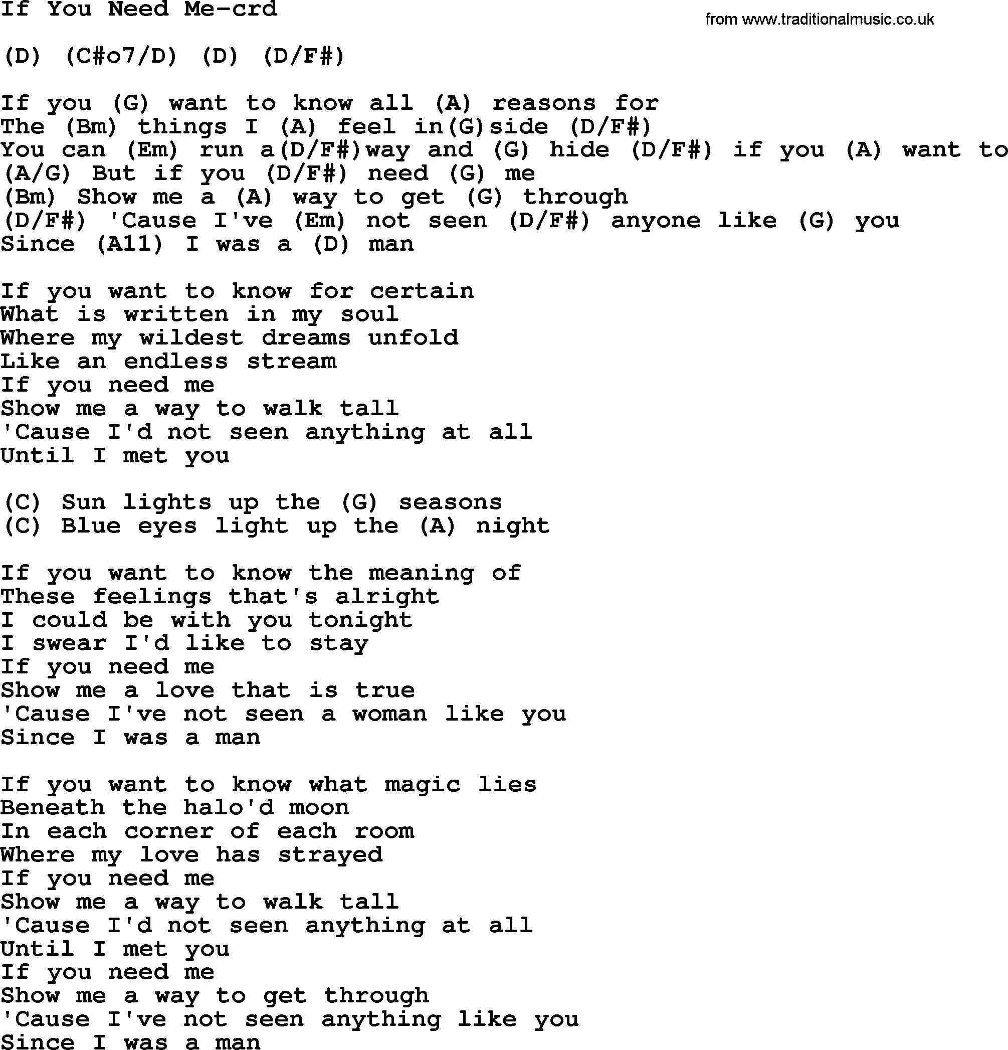 If you need me by gordon lightfoot lyrics and chords gordon lightfoot song if you need me lyrics and chords hexwebz Choice Image