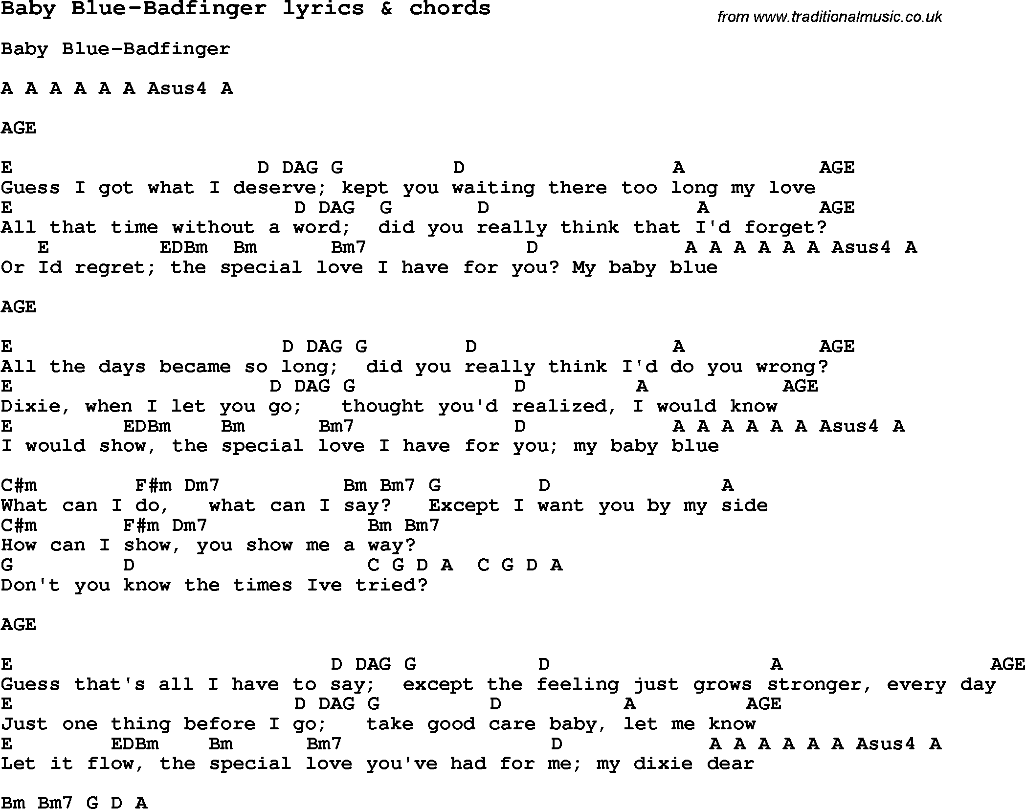 Baby blue lyrics for Bedroom eyes lyrics