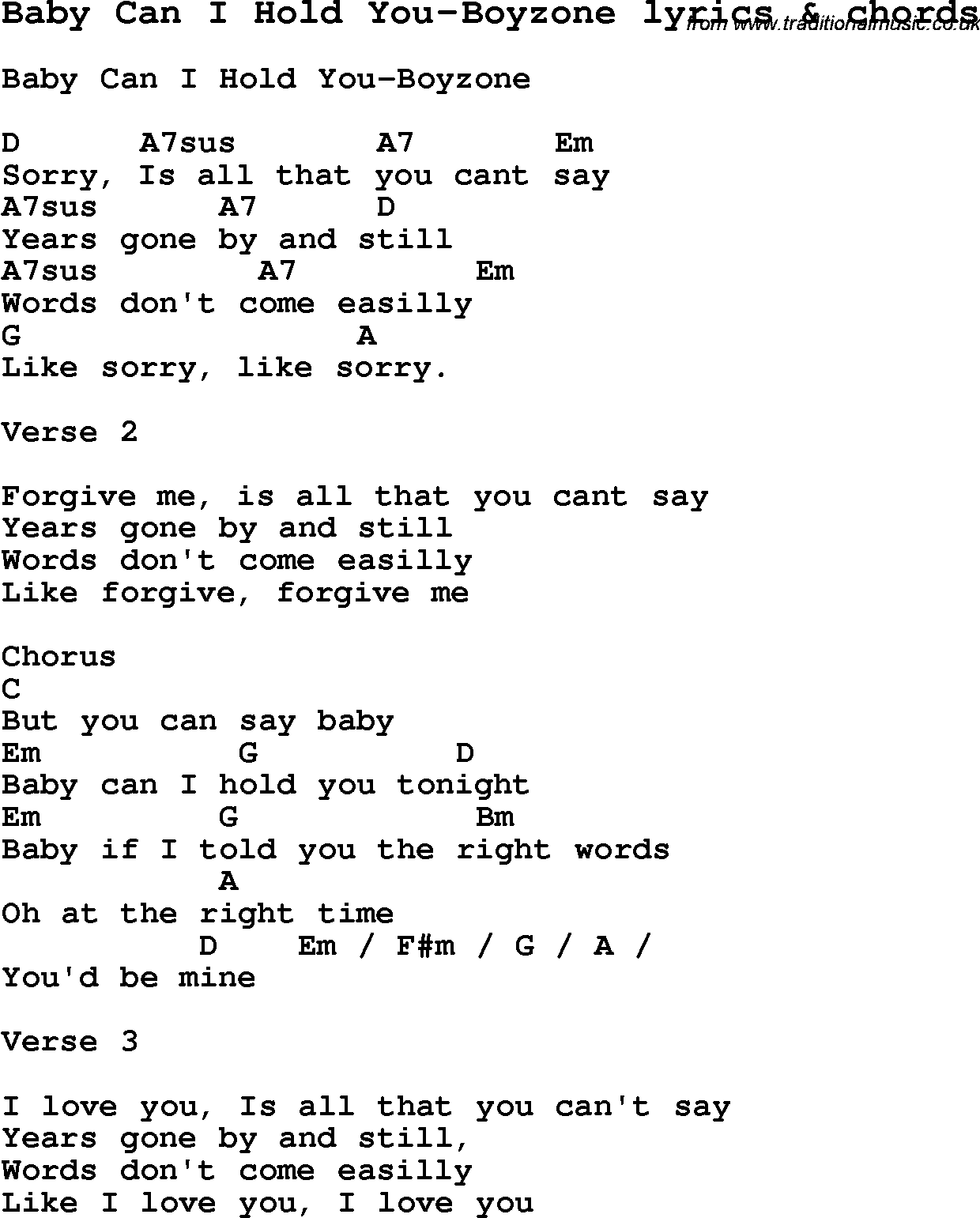 Sorry is all that you can say lyrics