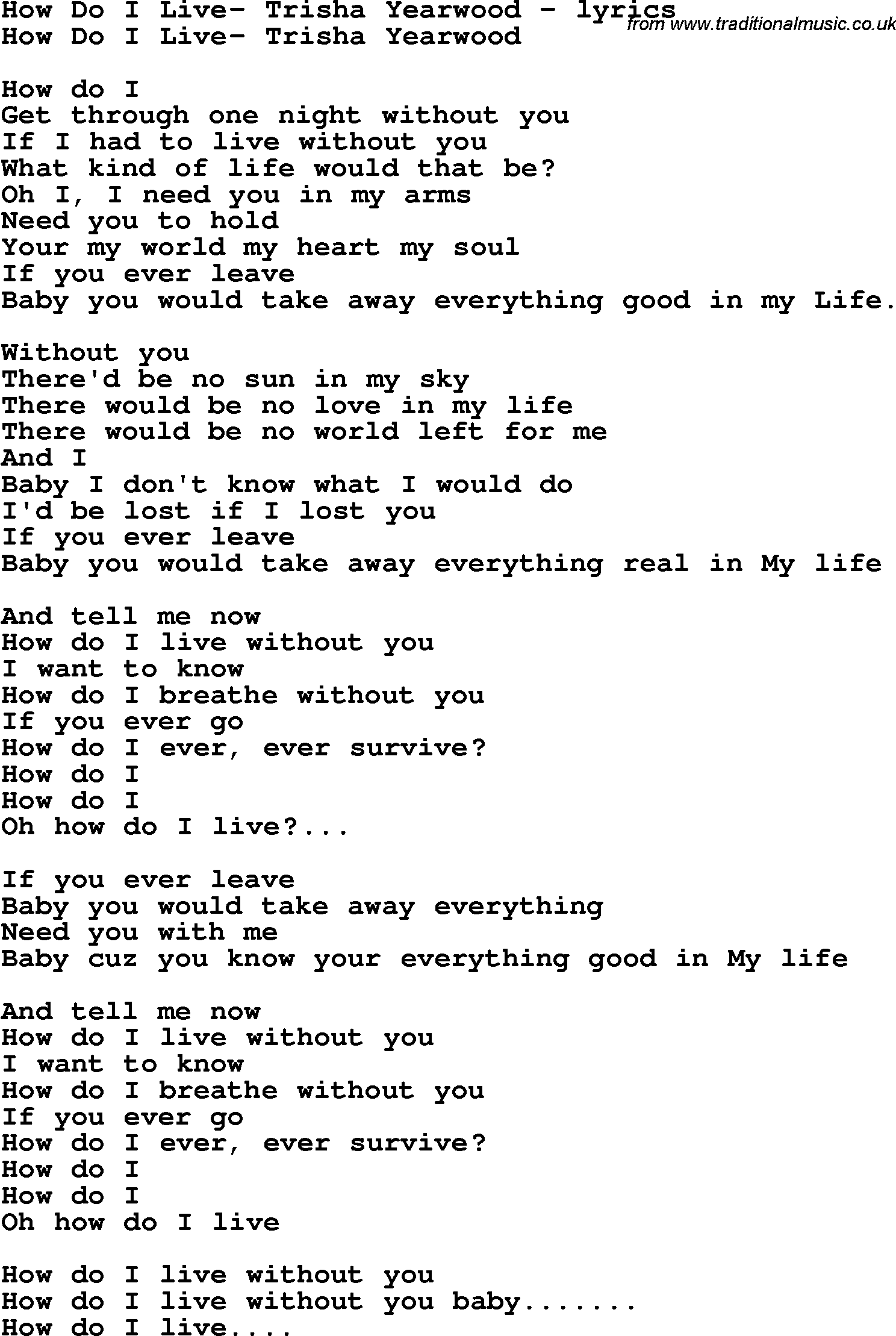 Without you what do i do with me lyrics