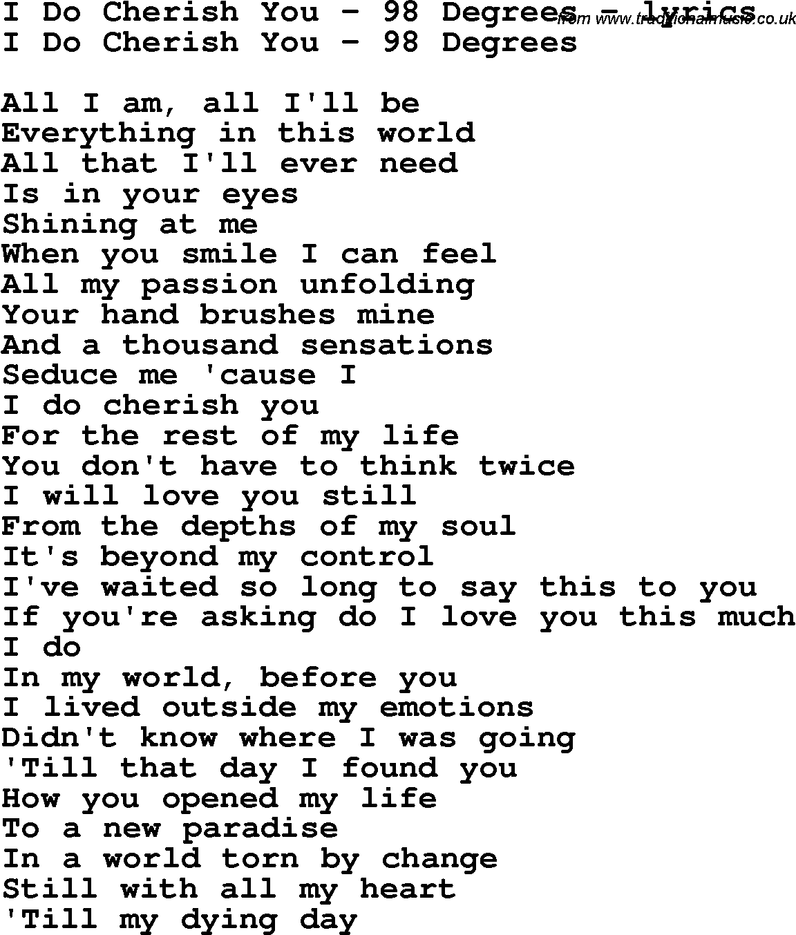 G.Q. - I Do Love You Lyrics