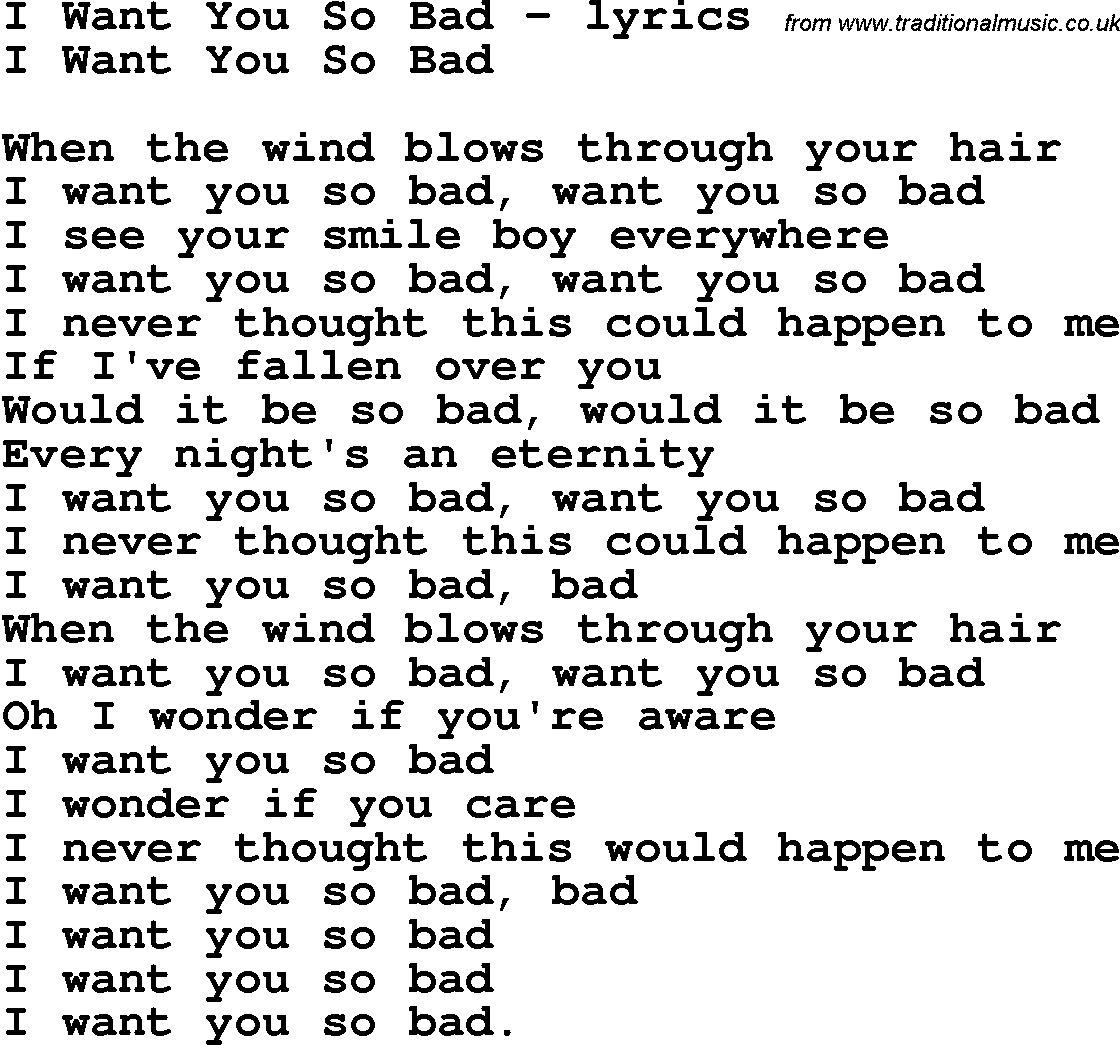 when it hurts so bad lyrics:
