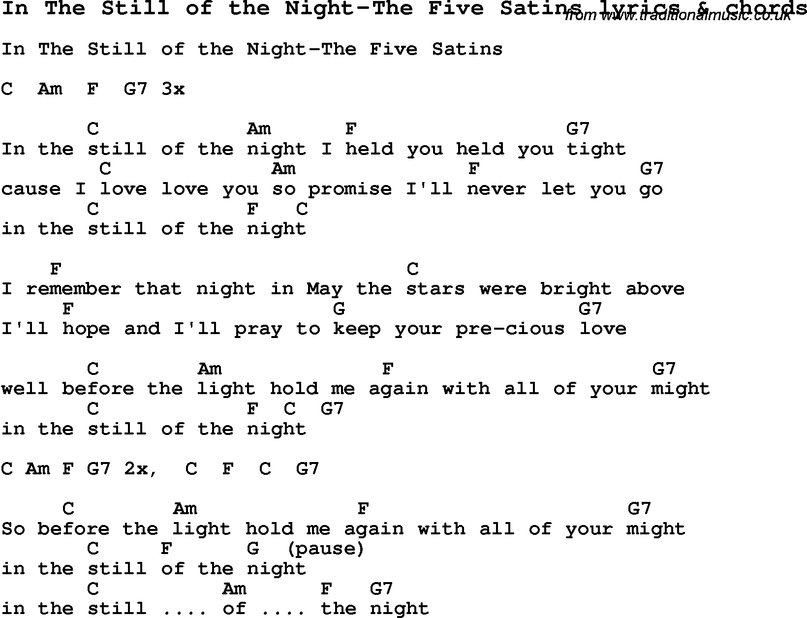 Love song lyrics forin the still of the night the five satins love song lyrics for in the still of the night the five satins with hexwebz Image collections