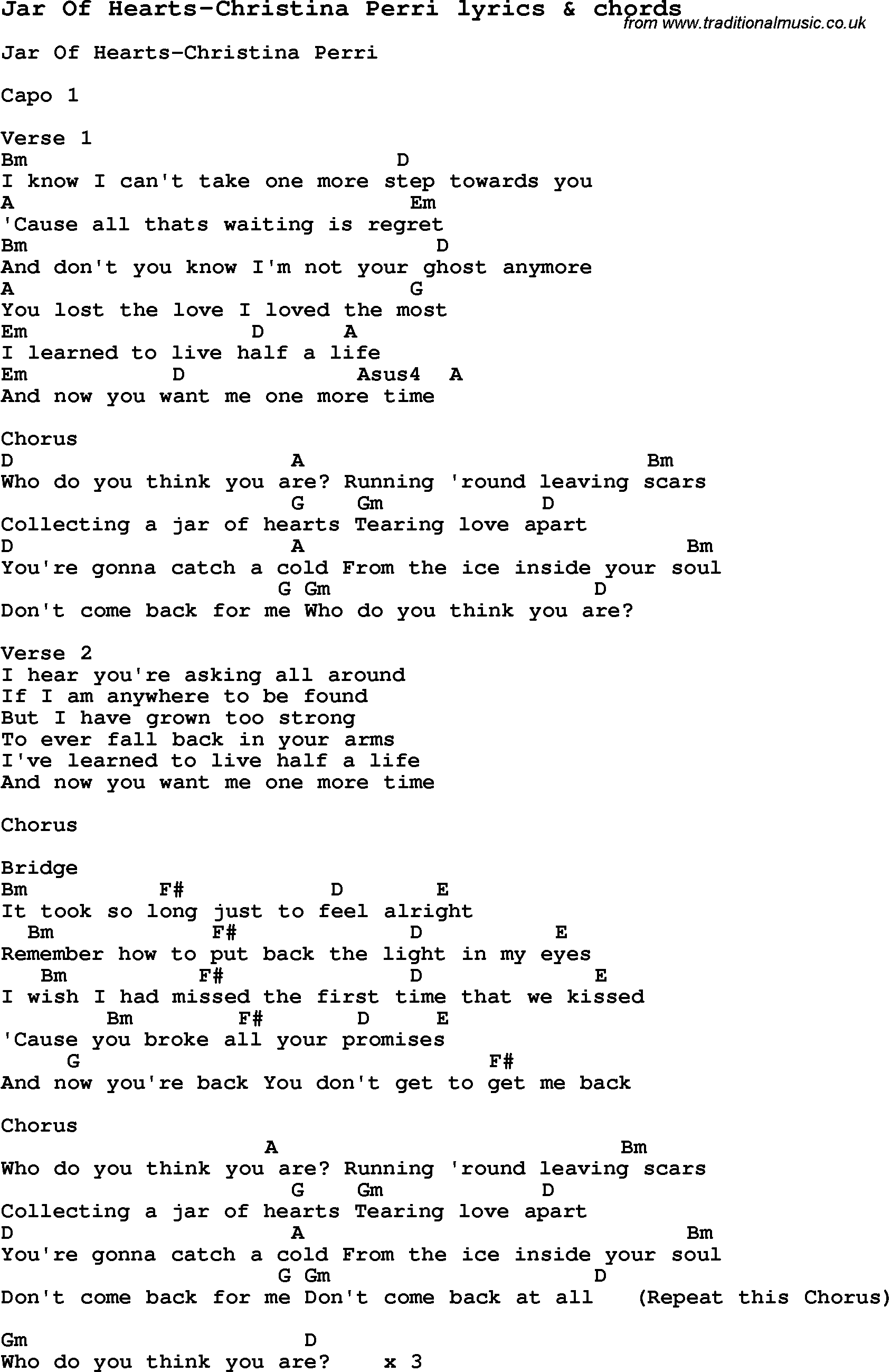 Love song lyrics forjar of hearts christina perri with chords love song lyrics for jar of hearts christina perri with chords for ukulele hexwebz Choice Image