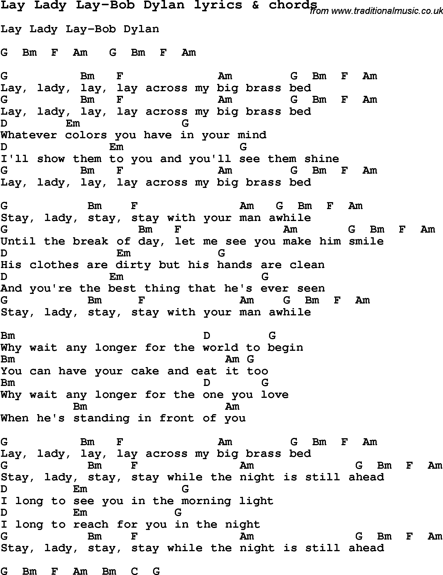 The wedding song guitar chords