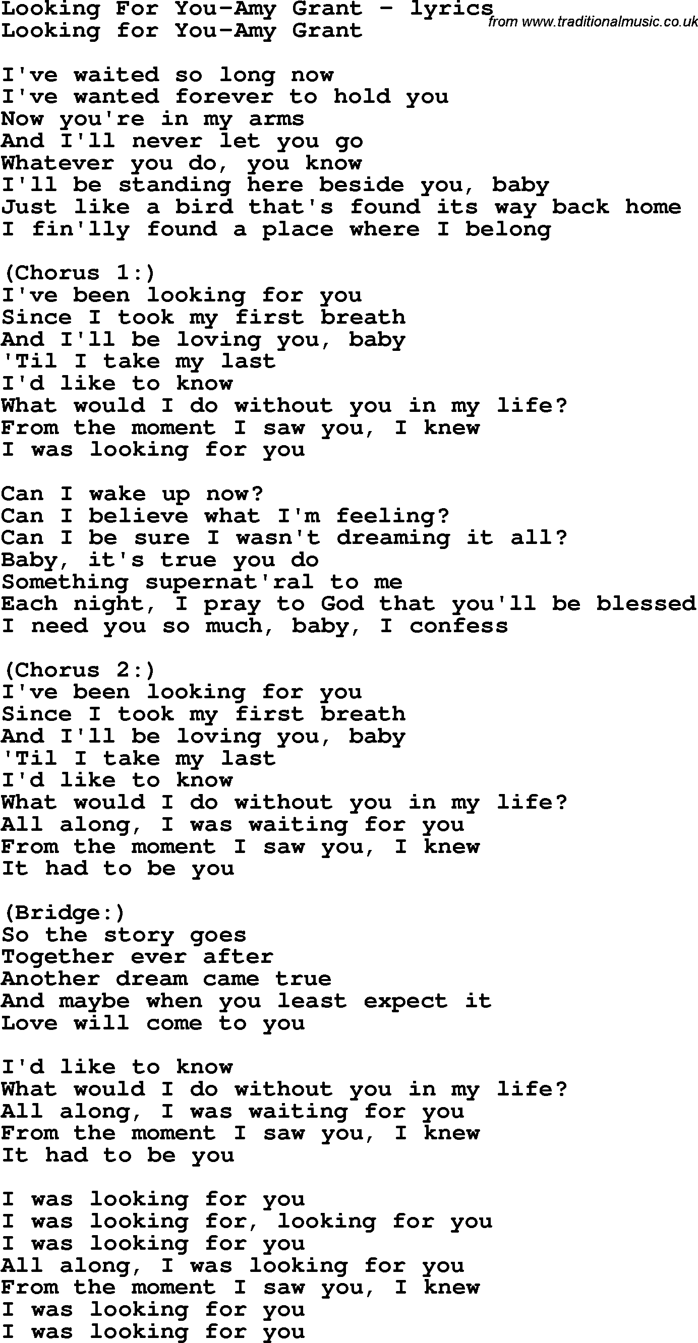 Looking for a girl like you lyrics