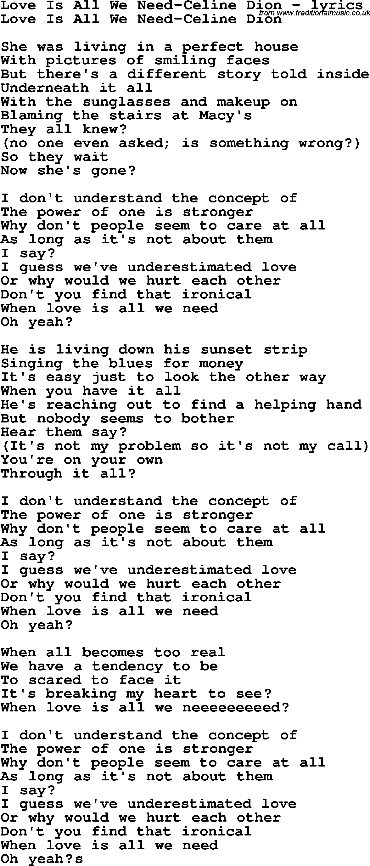through it all lyrics