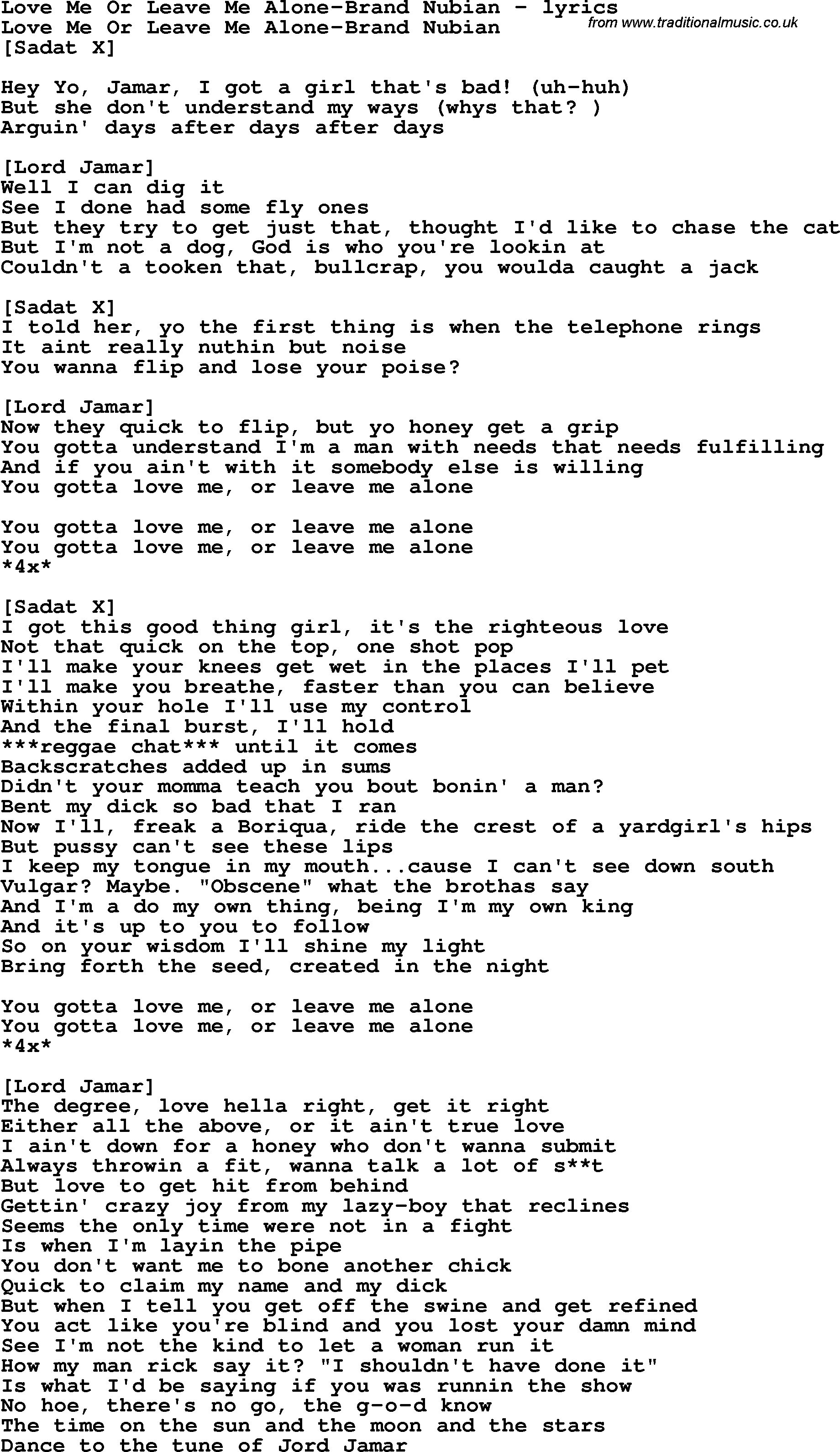 B+52s+Love+Shack+Lyrics Love Song Lyrics for: Love Me Or Leave Me ...