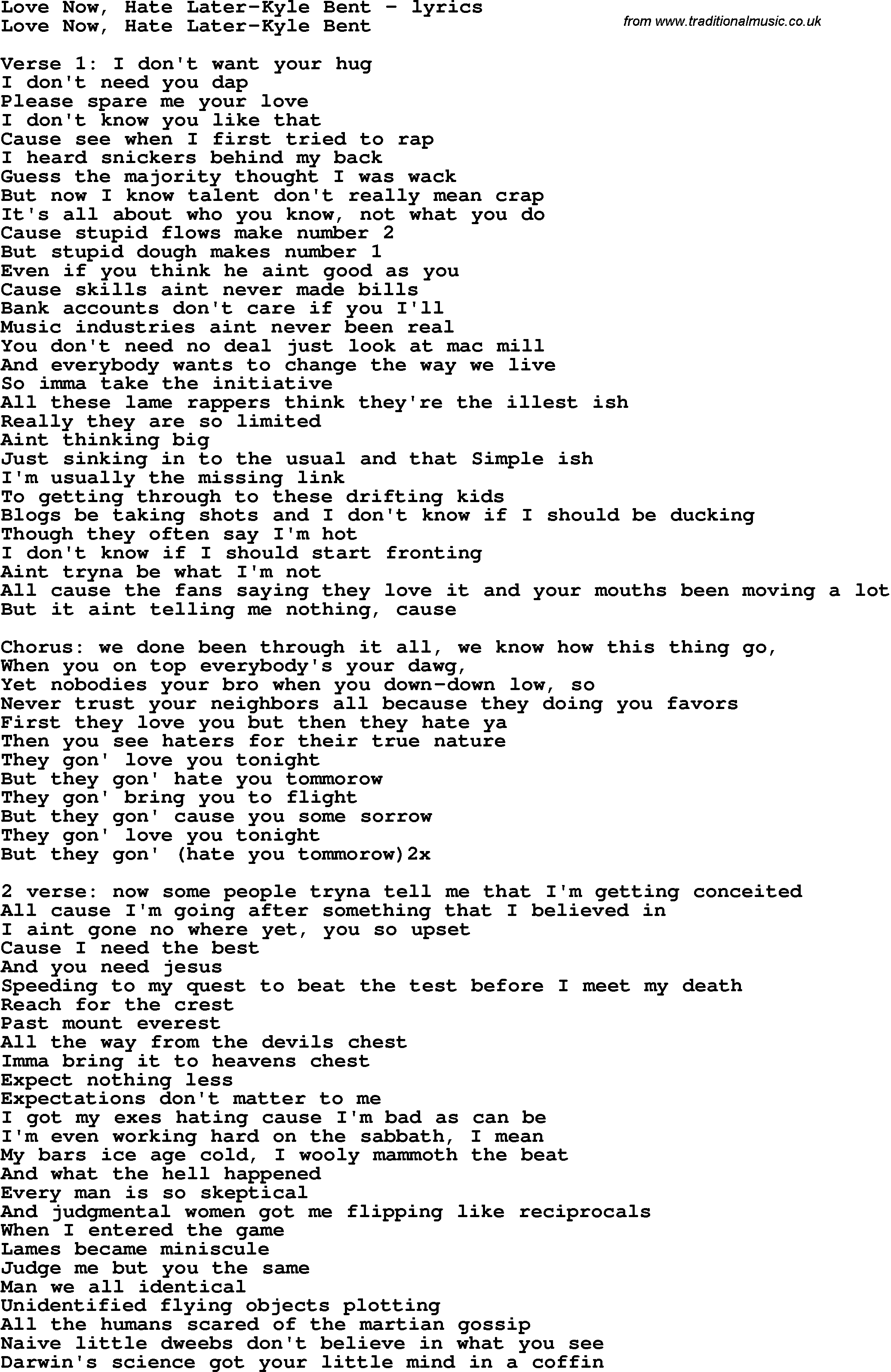 Love thing lyrics