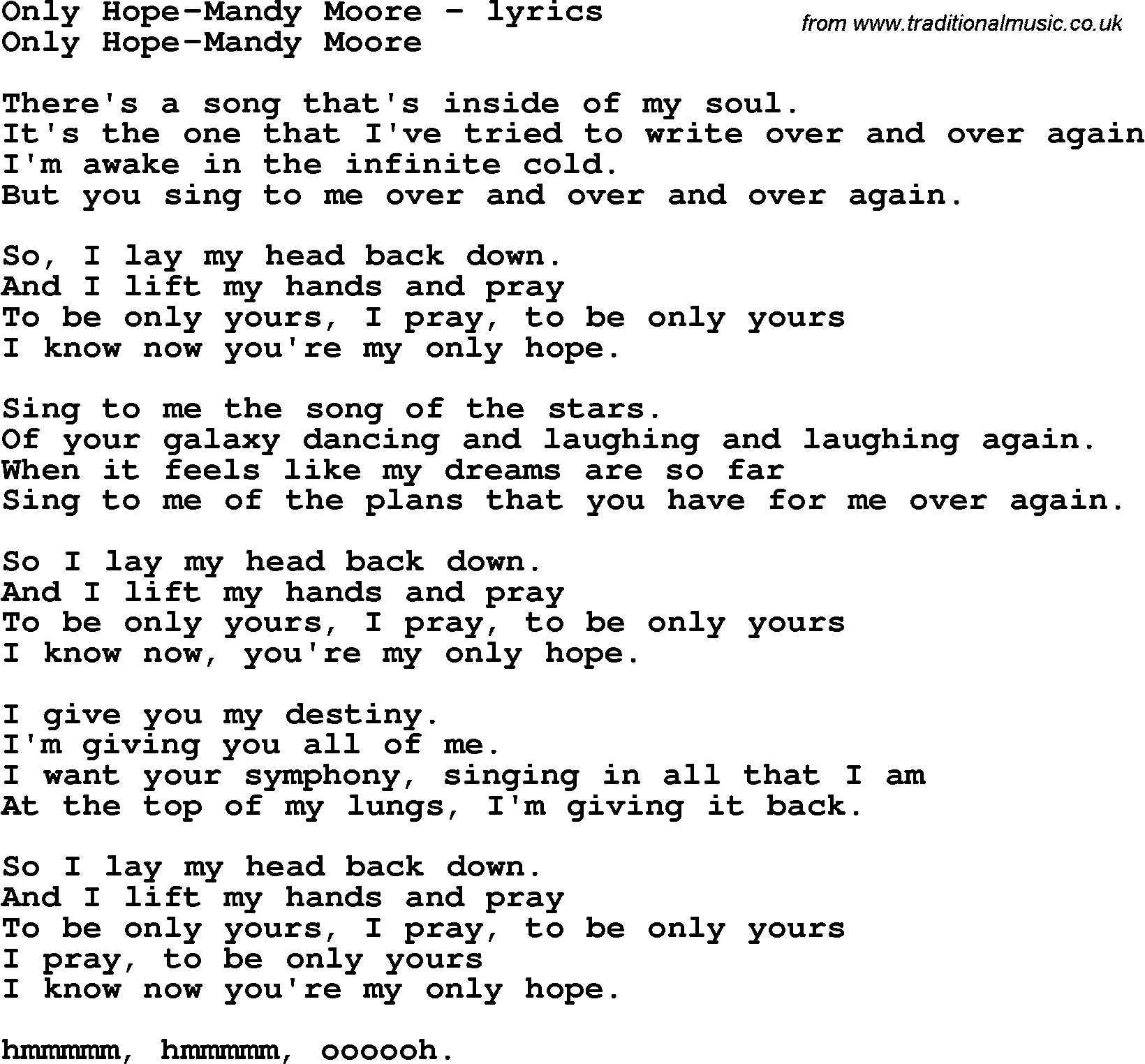 Moore lyrics