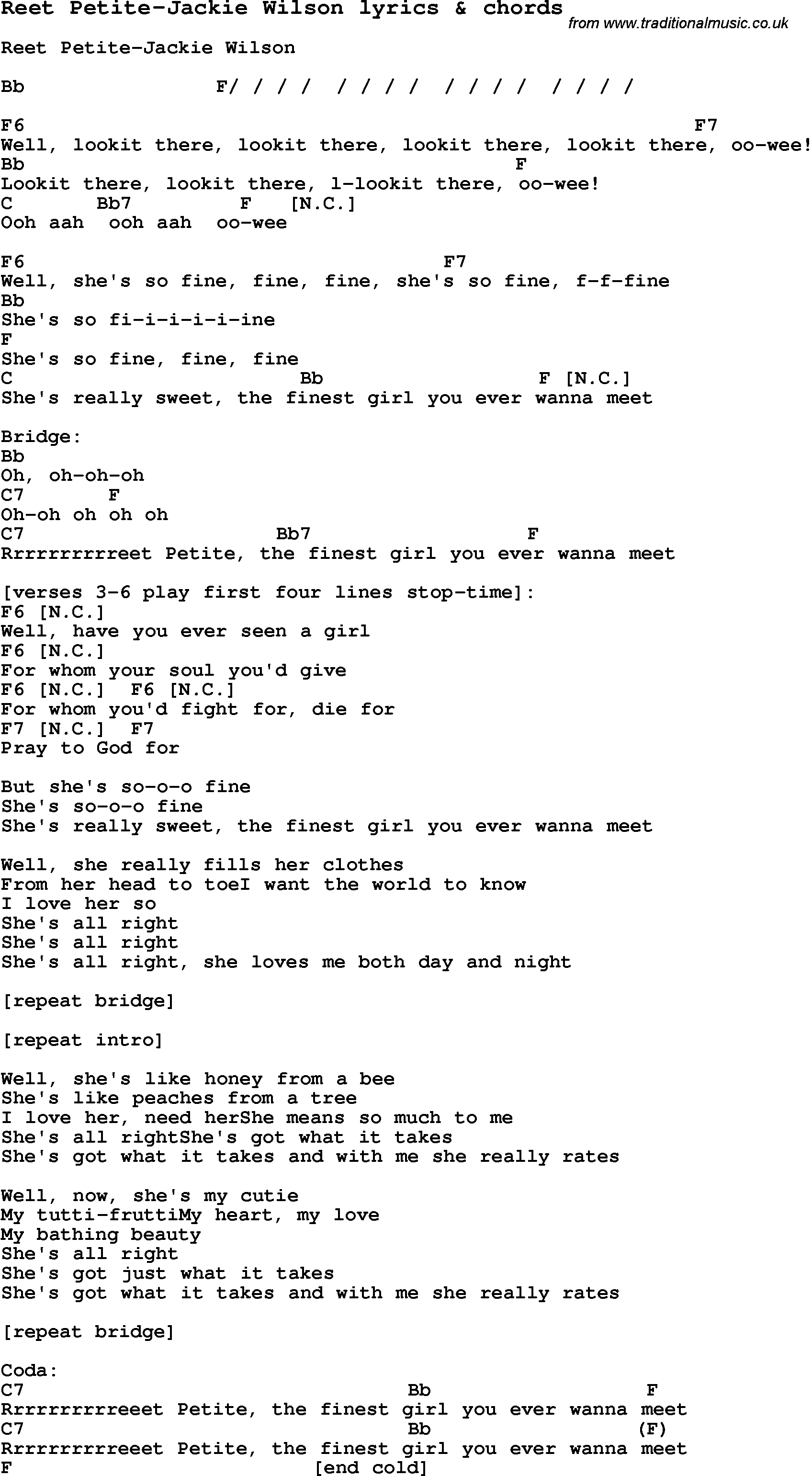 Lyrics to sweet petite — img 2