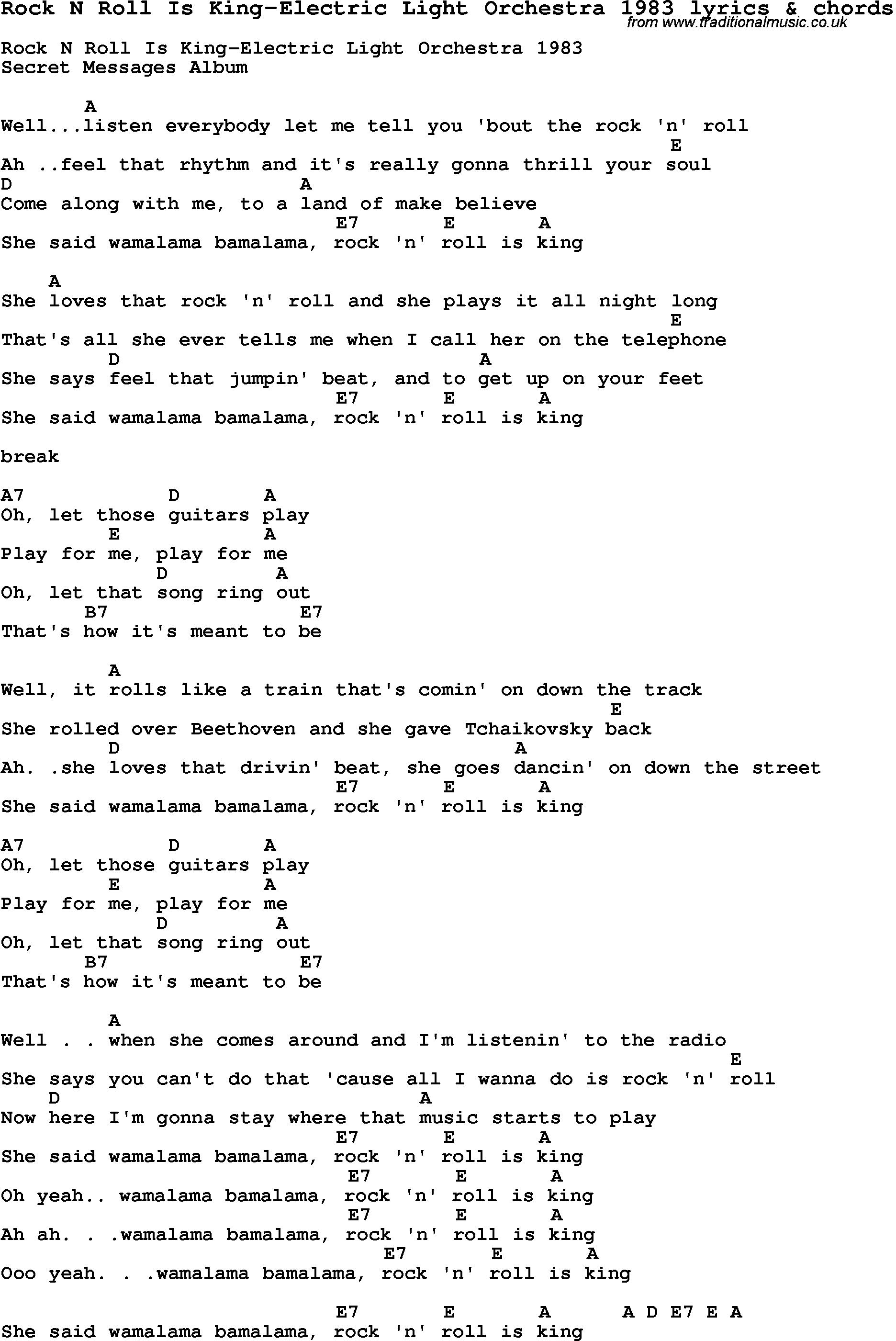 Lyrics rock 28 images christian childrens song the for Classic house chords
