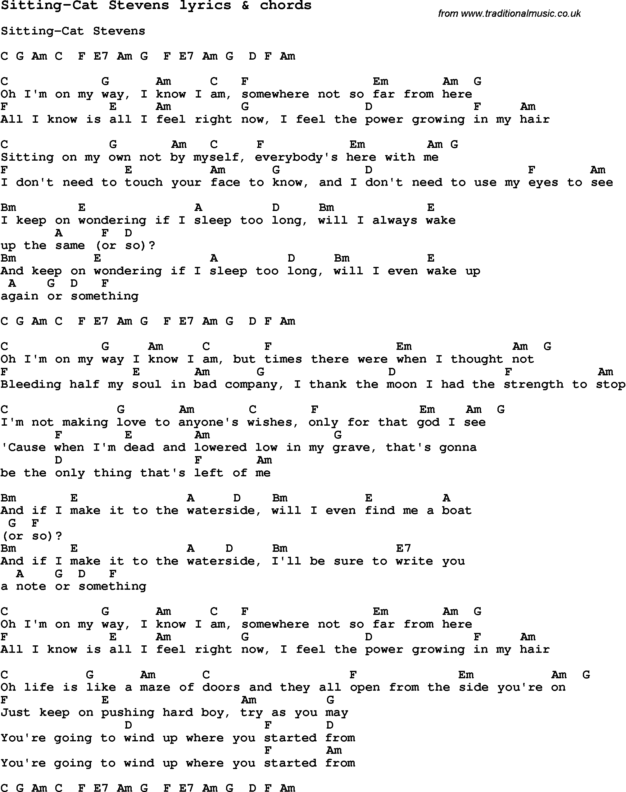 Cat In The Hat Holding On Song Lyrics