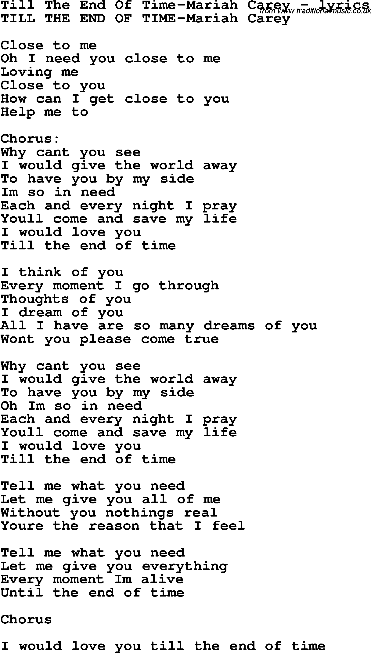 in the end lyrics: