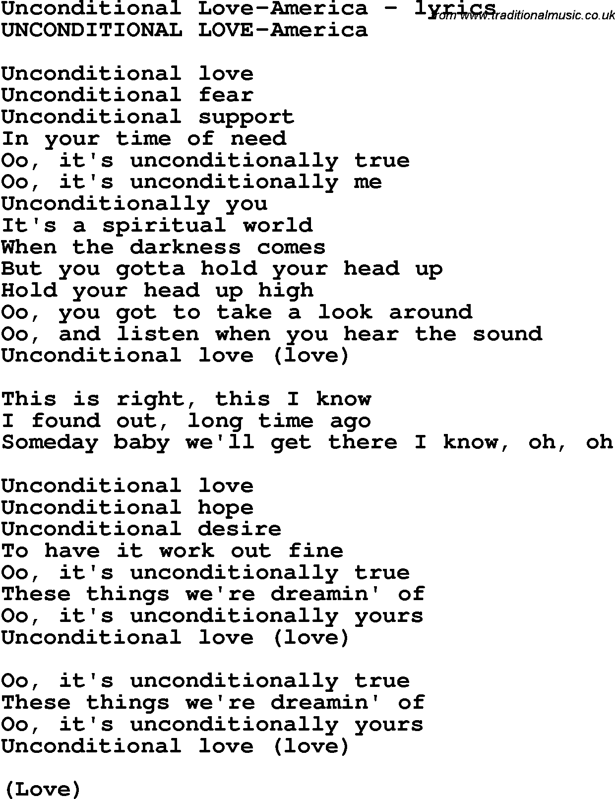 Unconditional Love Quotes For Him Unconditional Love Lyrics  Top Ten Quotes