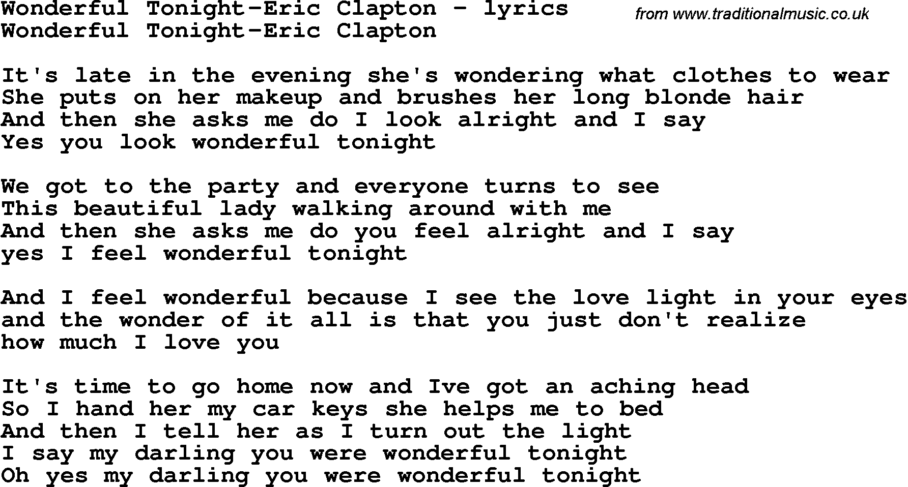 ERIC CLAPTON - BEFORE YOU ACCUSE ME LYRICS