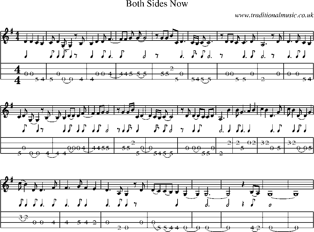 Both Sides Now (Chords) - Ultimate Guitar Archive