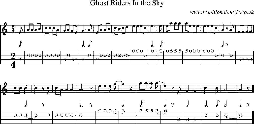 And mandolin lick tab ghost riders sexy
