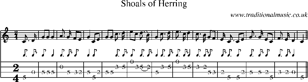 And old songs sheet music and mandolin tab song shoals of herring