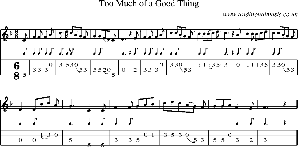 never too much sheet music pdf