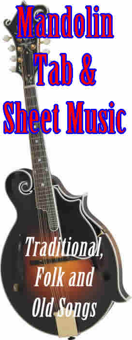 Sheet music with MANDOLIN tablature for 3700+ Traditional