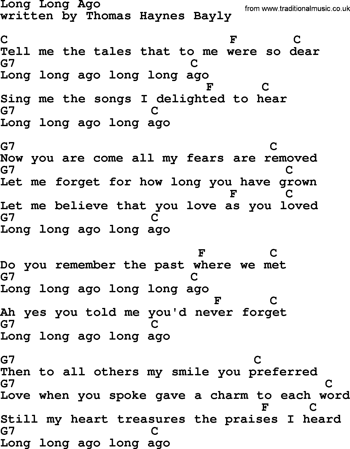 Long long ago by marty robbins lyrics and chords marty robbins song long long ago lyrics and chords hexwebz Images