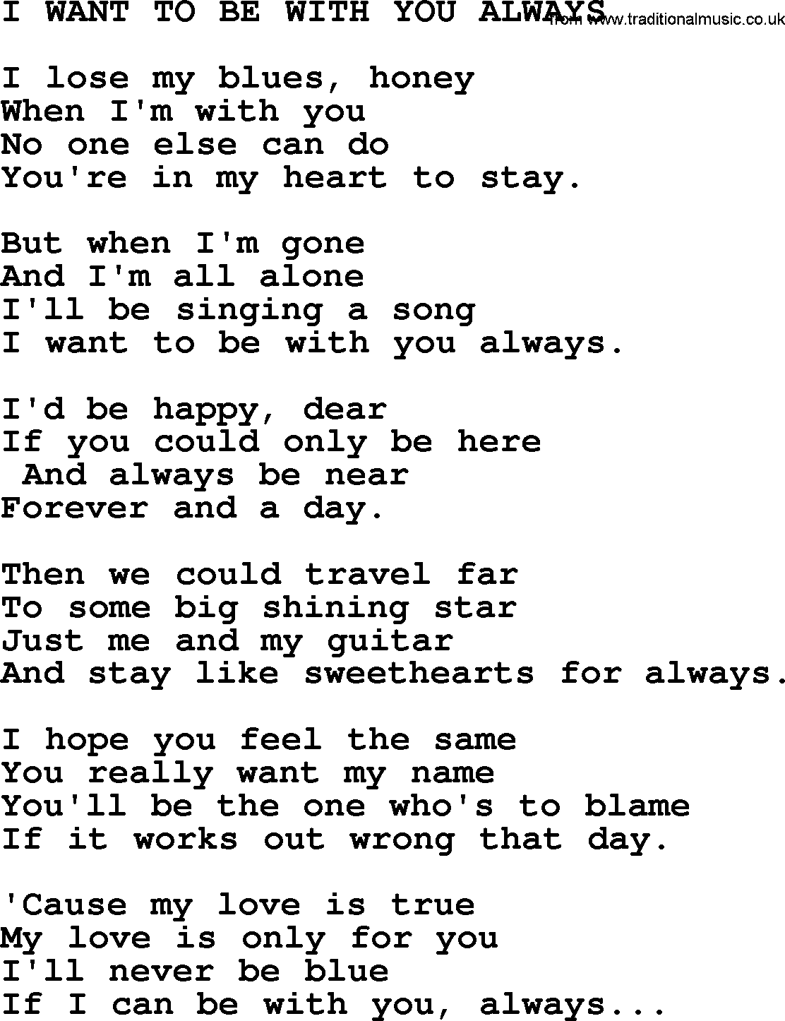 I just want to be happy song lyrics