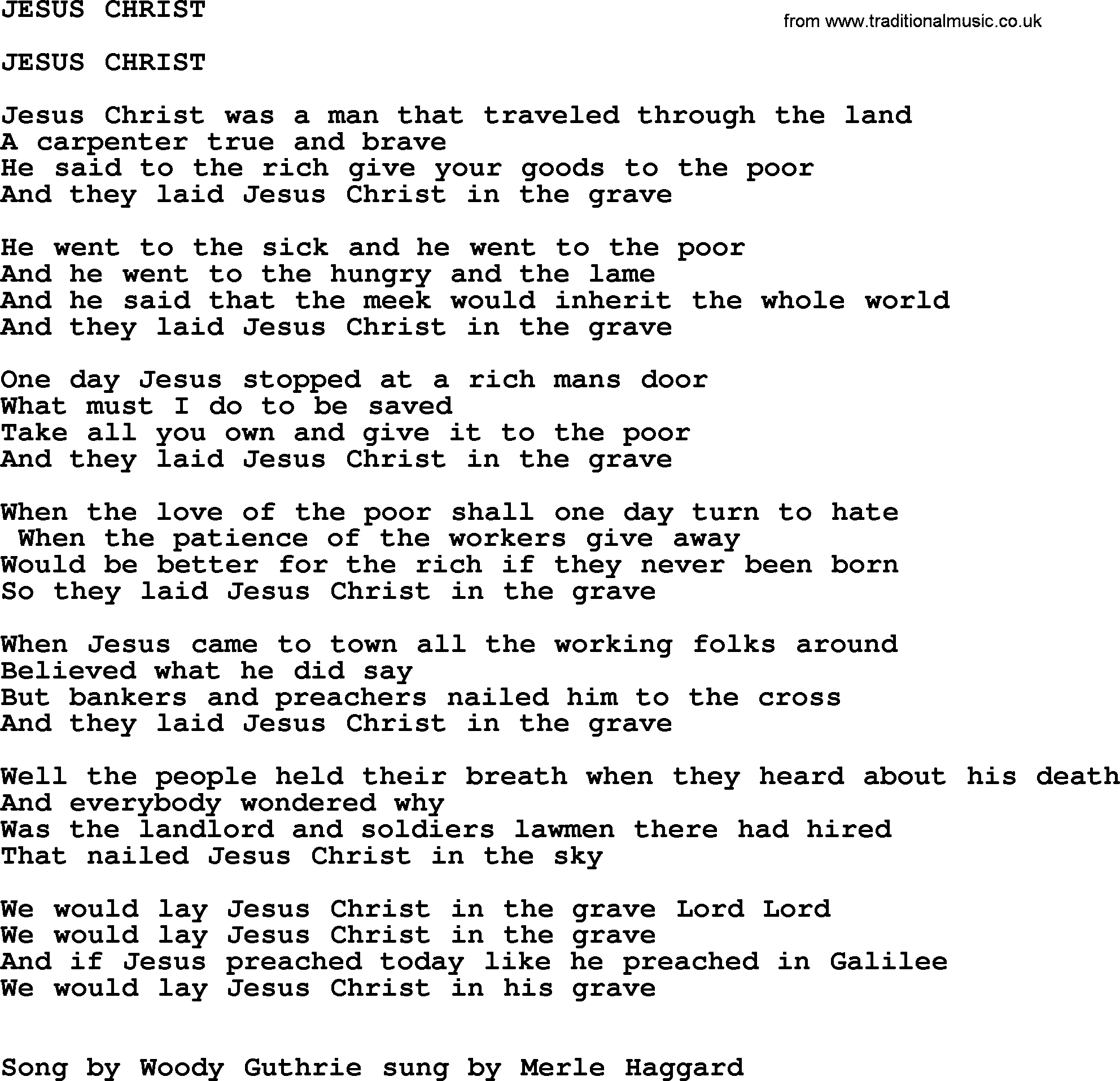 Ca  30 Resultater: One Day At A Time Lyrics Merle Haggard