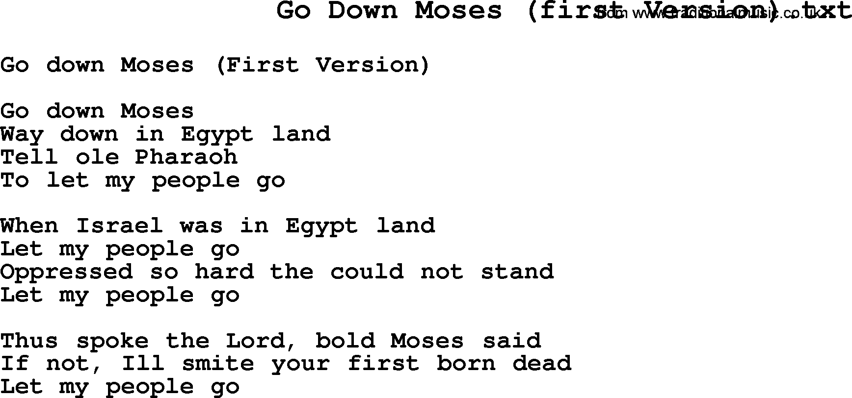 essay on go down moses