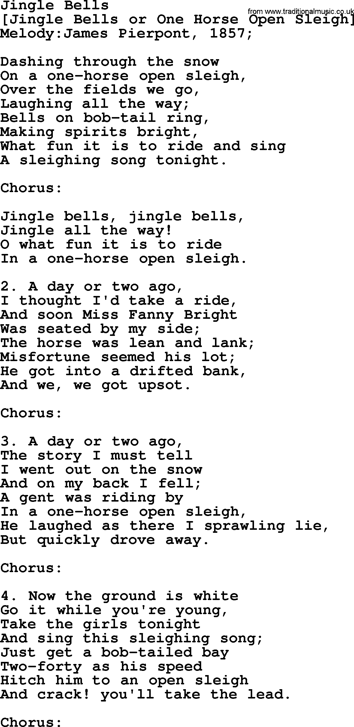 jingle bell lyrics